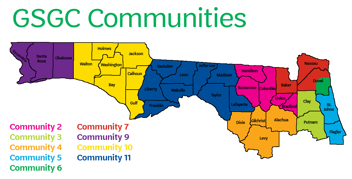 GSGC Community Map with Counties